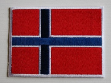 Norsk Flagg - 37;5 x 50 mm