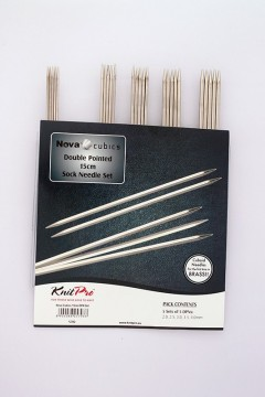 Nova Cubics Double Pointed 15 cm Sock Needle Set