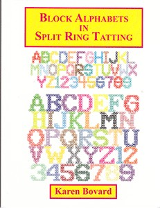 Block Alphabets in Split Ring Tatting - Mønsterbok
