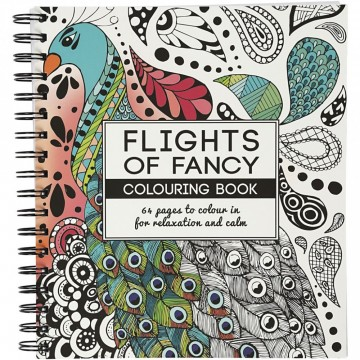 Flights of Fancy - Stor Fargeleggingsbok