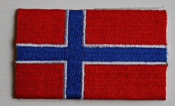 Norsk Flagg - 3 x 4 cm