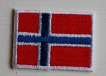 Norsk Flagg - 52;5 x 70 mm