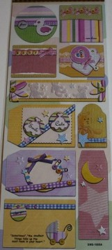 Embossed stickers - EMS-1005A